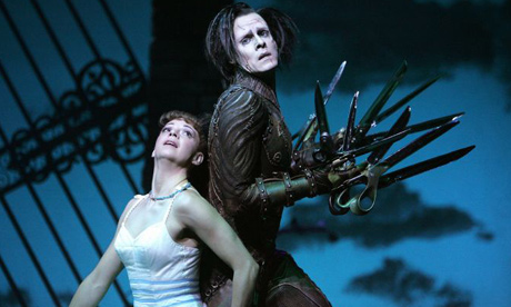 Kerry Biggin and Sam Archer in Matthew Bourne's Edward Scissorhands. Photograph: Tristram Kenton