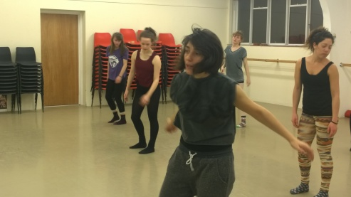 Sophie Guariglia teaching an advanced contemporary class at PPA, Canterbury. Photo: Gender in Dance